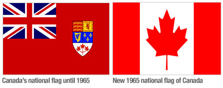 Country changing flags Canada